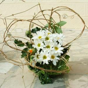 Décoration florale pour récéption à l'ESAT de Lancheneil à 15 minutes de Laval en Mayenne