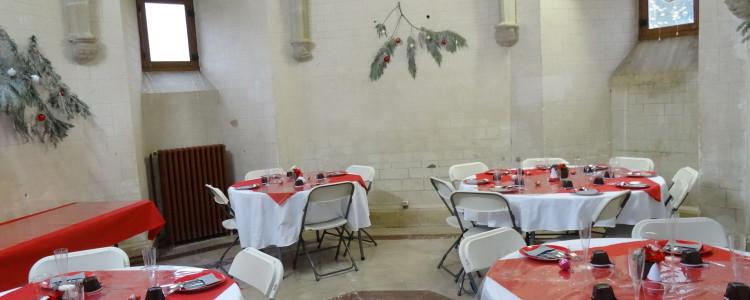 Petite salle ronde du château de Lancheneil