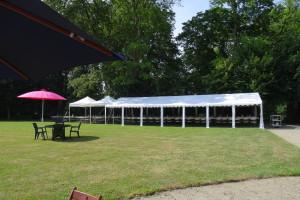 Location de barnum de 85 m² et deux barnums de 15 m² au château de Lancheneil