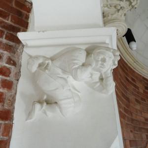 Détail de chapiteau au château de Lancheneil