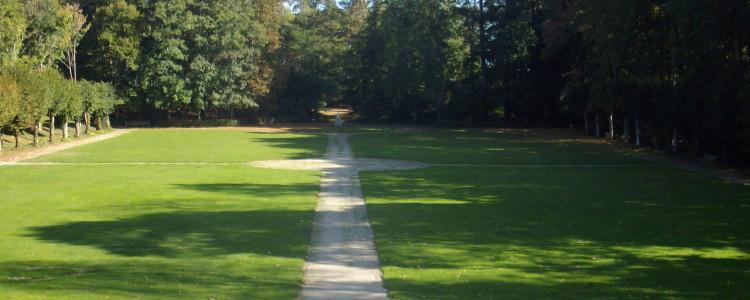 Le parc vu du château de Lancheneil