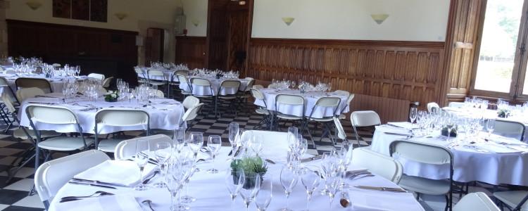 Salle principale du château de Lancheneil