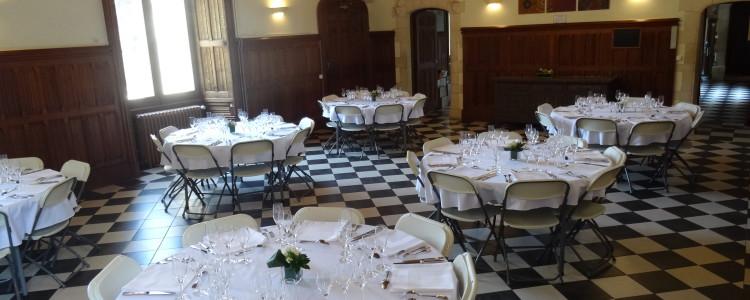 Salle principale de réception du château de Lancheneil à Nuillé sur vicoin