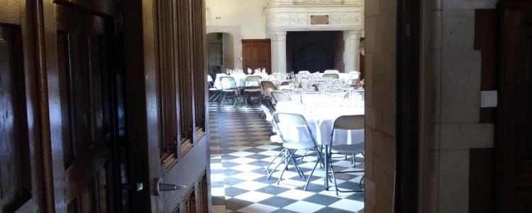 Salle de réception au château de Lancheneil