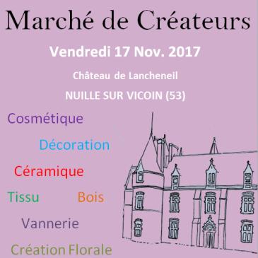 Marché de créateurs au château de Lancheneil le 17 novembre 2017